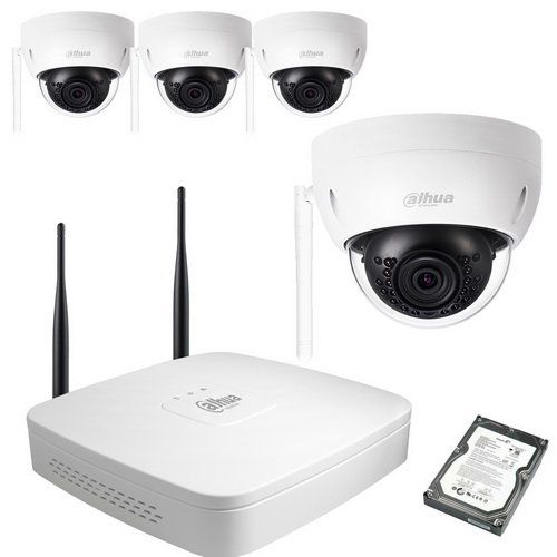 Kit video WIFI DAHUA 4 DOMES 3MP